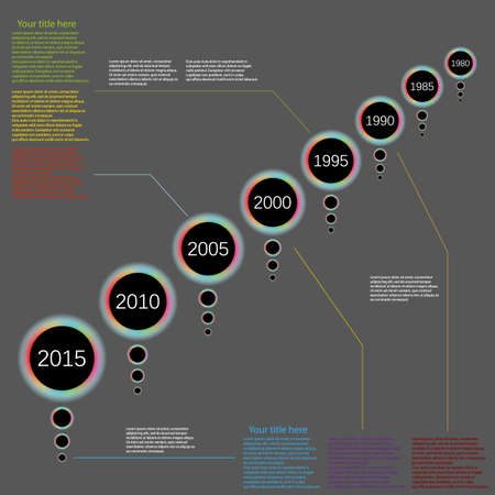 vector infographic timeline backgrund Vector