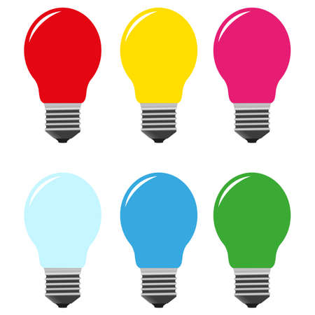 color bulbs vector Vector