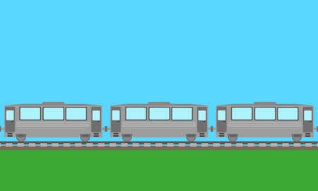 passenger train background vector Illustration