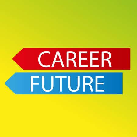 vector color arrows career future on fresh background Vector