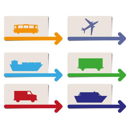 transportation pointers vector Illustration