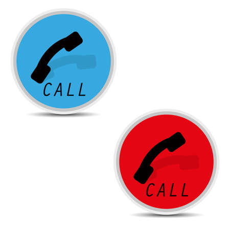 telephone icons on white background vector