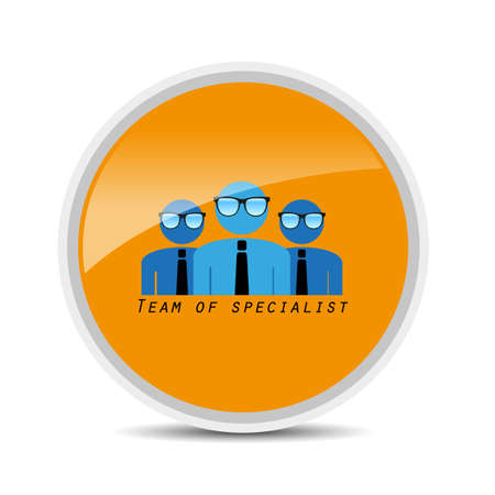 specialist: team of specialist icon on white background vector