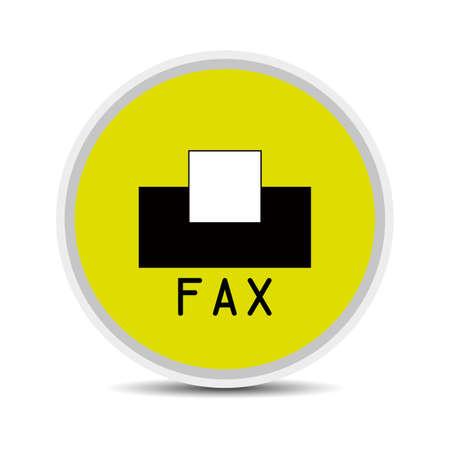 icono fax: icono del fax en el fondo blanco vector Vectores