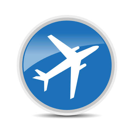 airplane icon on white background vector Vector