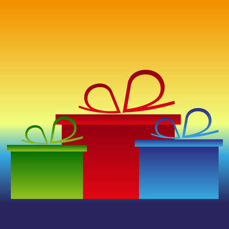 in amazement: christmas gifts presets color backgrund vector Illustration