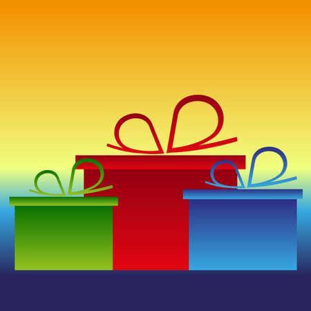backgrund: christmas gifts presets color backgrund vector Illustration