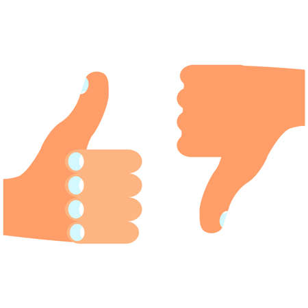 thumbs up and down vector Vector