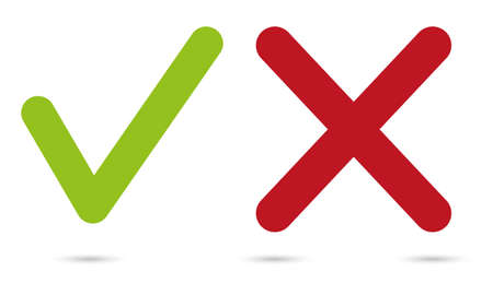 yes or no: vector yes or no symbols