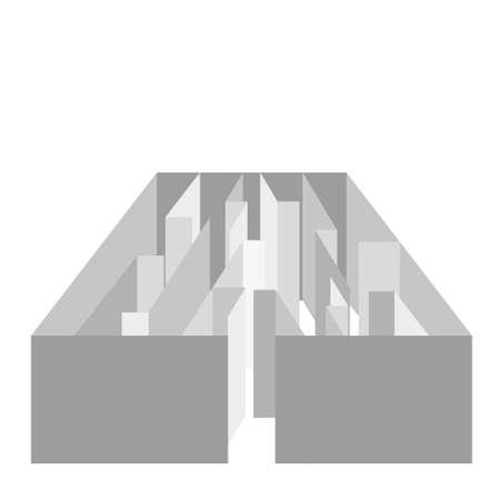 ramble: vector gray maze on white background