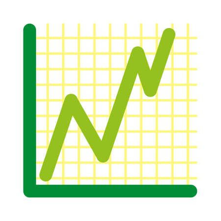 vector success graph simple background Vector