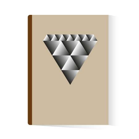 brochure book abstract diamond template