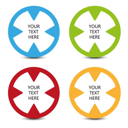 four color icons with place for your text