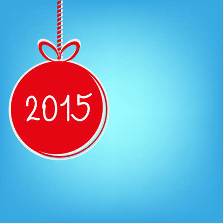 fifteen: happy new year 2015 - vector stock