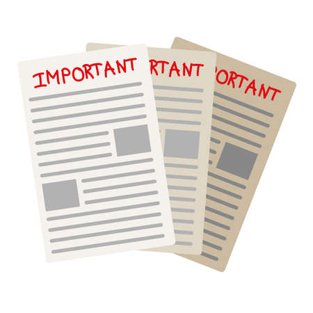urgently: important paper documents - stock vector