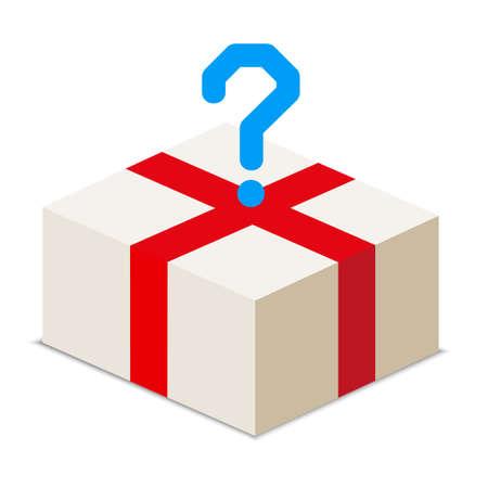 bestel een pakket van diverse goederen - vector stock