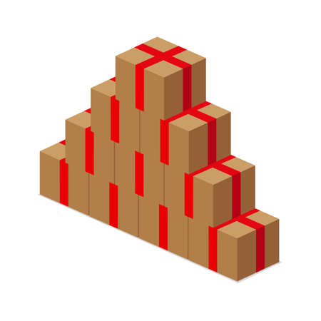 shipped: carton packages Illustration