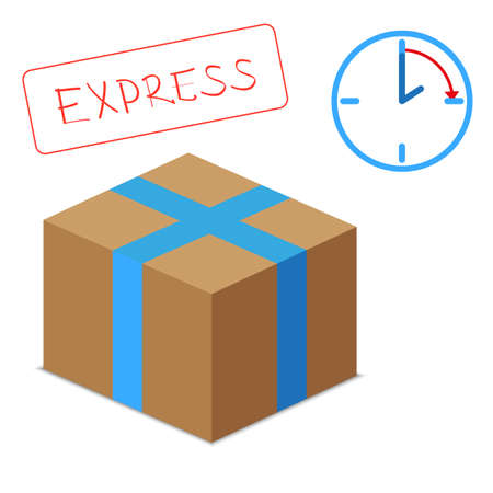 express delivery: express delivery concept Illustration