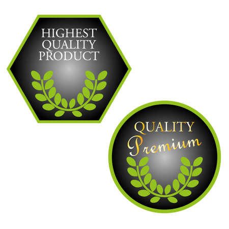 highest: set of highest quality product stamps Illustration