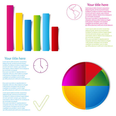 spacial: set of graph statistic info graphic flat style