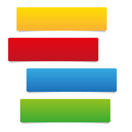 four color empty tags vector