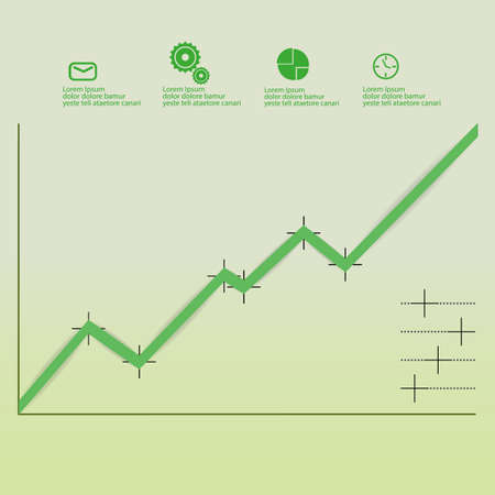 simple infographic graph growth