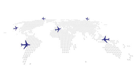 the abstract dotting the map with aircraft flights