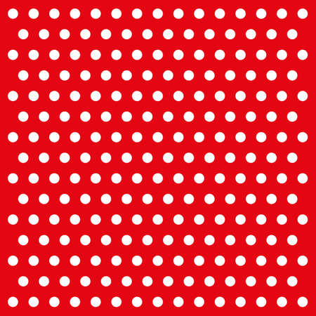 white dots on red background vector Illustration
