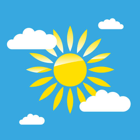 sun on the sky simple graphic