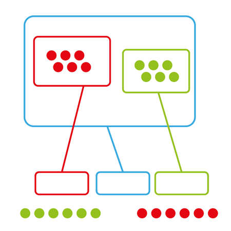 simple color graph group with use points vector