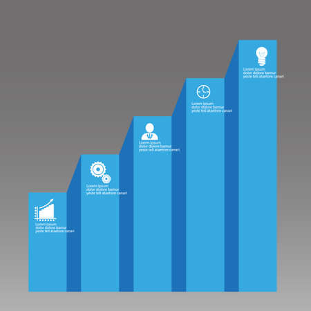 success infographic vector graph