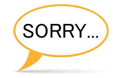 désolé: l'esprit bulle avec texte vecteur désolé