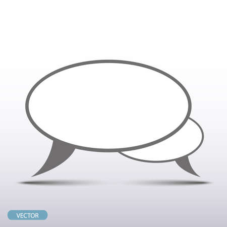 empty speech flat icon on gray background with shadow Illustration