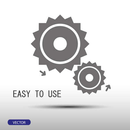 use: easy to use flat style icon on gray background