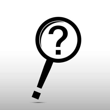 careful search icon - vector Vector