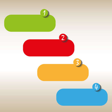 color icons set with number Illustration