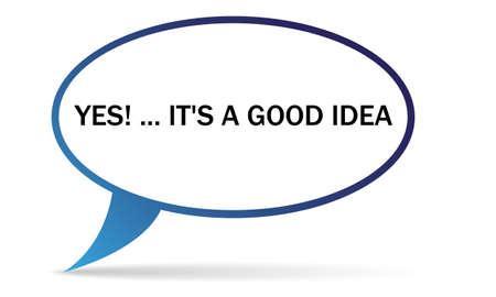idea bubble: good idea bubble