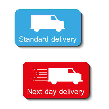 consignment: two color delivery icons with shadow