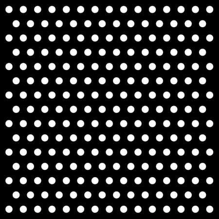 sameness: white dots on black background vector Illustration