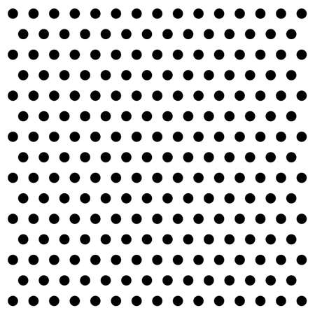 black dots: black dots on white background vector