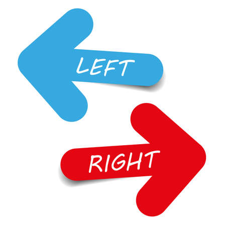 left right: arrow left right text vector