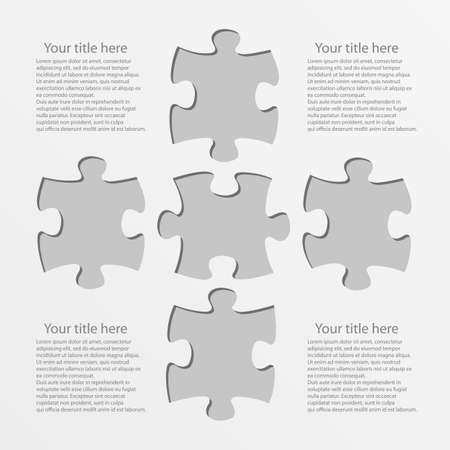 puzzle tags with place for your title or text vector graphic Vector