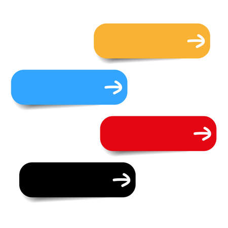 newest: four color icons with white arrow vector