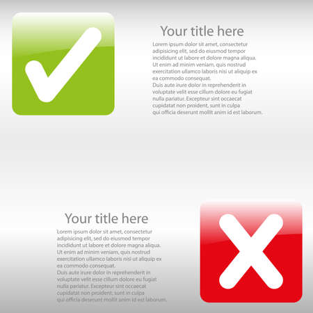 background check: glossy icons background check - vector