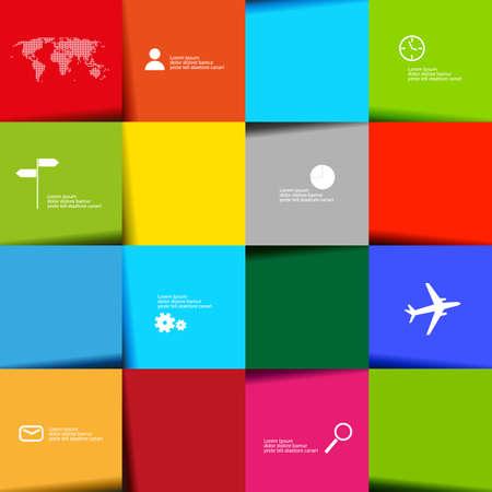 navigation panel: infographic color navigation panel - vector graphic