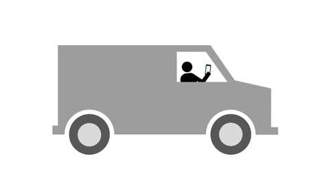 passanger: navigation in car Illustration
