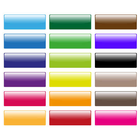 greeen: set of color glossy icons