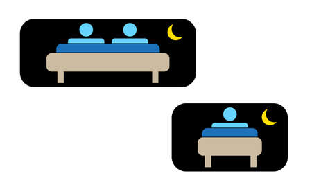 people sleeping: night for one or two person