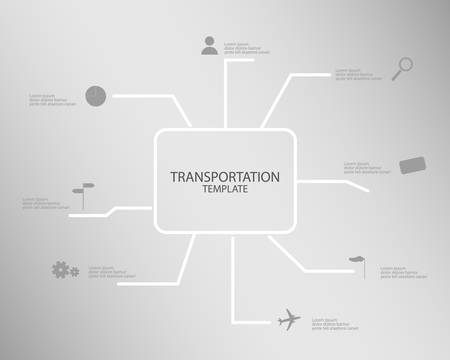 transportation template infographic vector