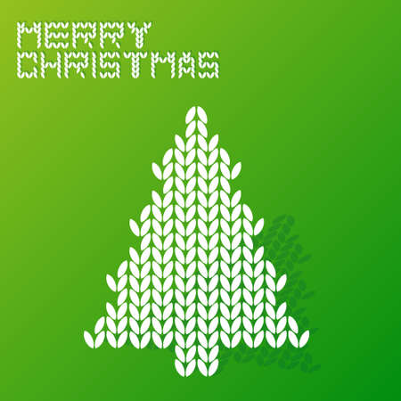 wool texture: merry christmas tree with wool texture style Illustration